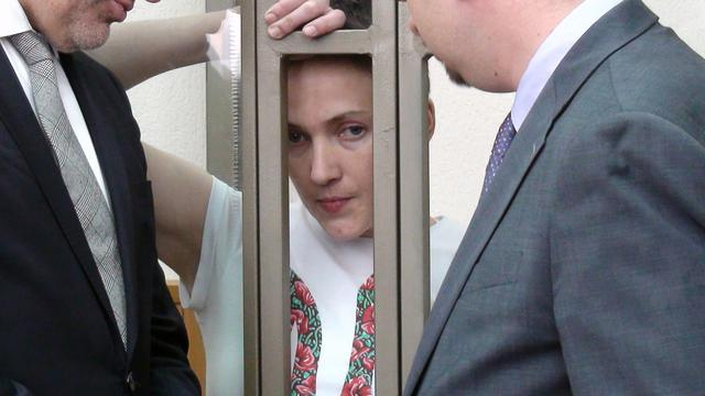 Oekraïense pilote aan het infuus vanwege hongerstaking in gevangenis