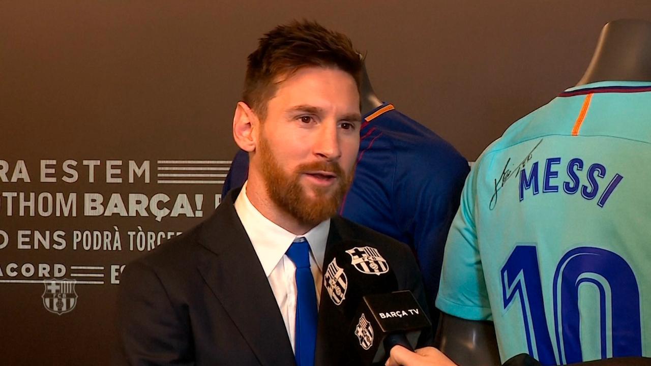 Messi blij met contractverlenging FC Barcelona