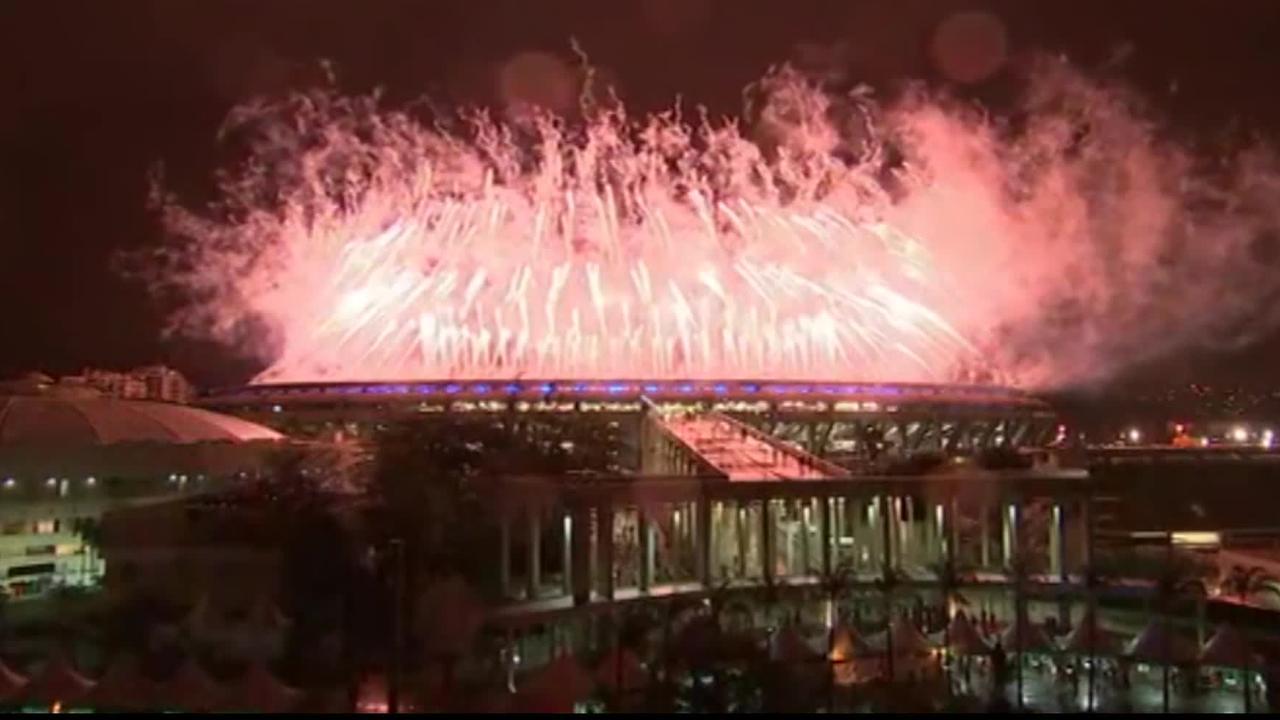 Olympische Spelen in Rio de Janeiro afgesloten met vuurwerk