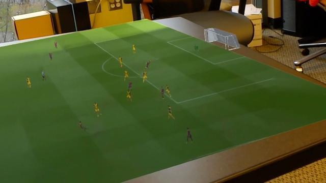 WK-wedstrijden via AR-bril in 3D op tafel te kijken