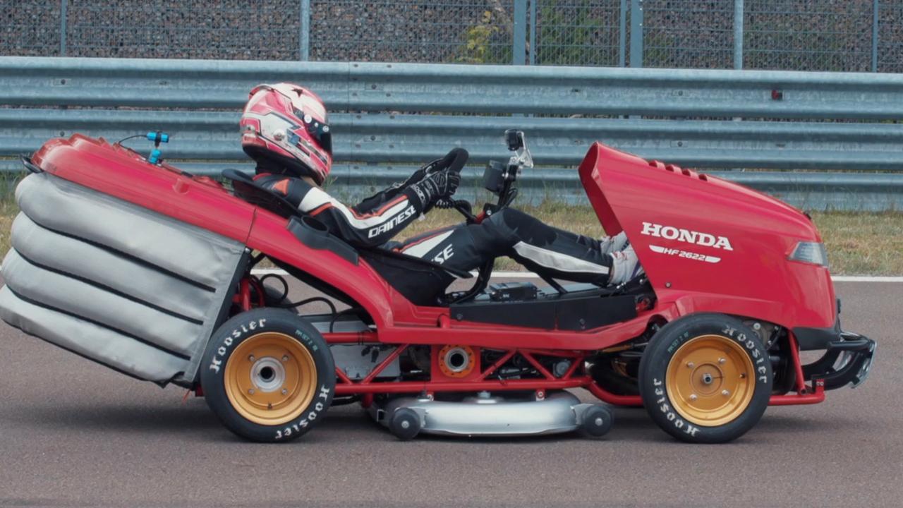 Honda breekt record voor snelst accelererende grasmaaier