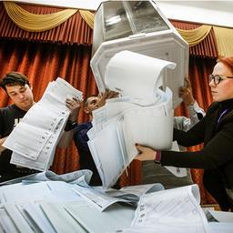 Partij van Poetin aan kop volgens eerste resultaten Russische verkiezingen
