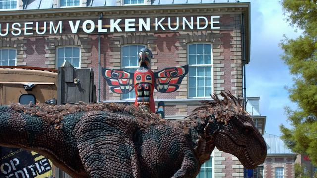 T.rex is te gast bij Museum Volkenkunde