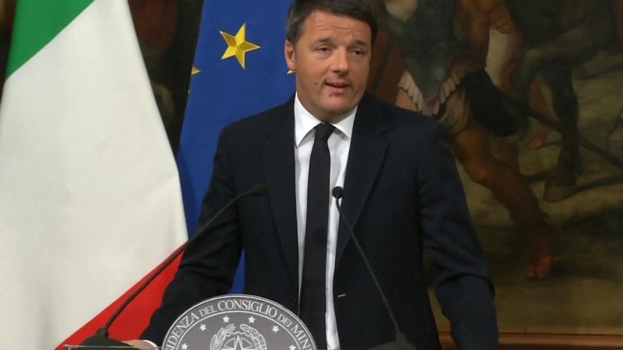 Premier Renzi treedt af: 'Hoop dat nee-kamp handelt in belang Italië'