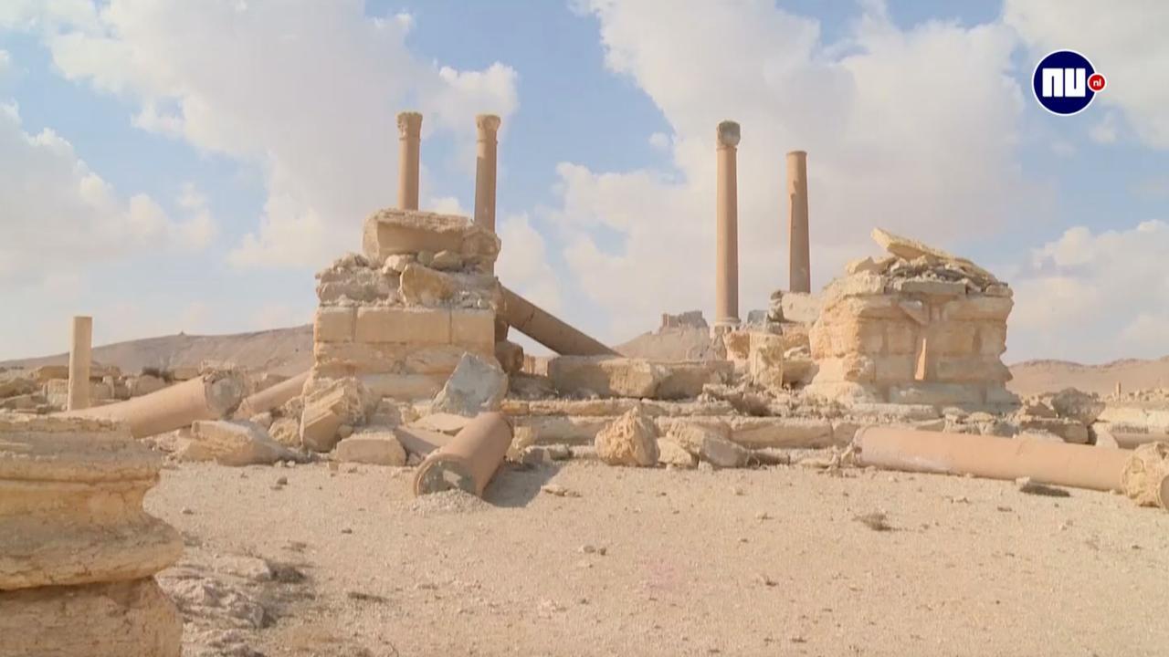 Destructie historische stad Palmyra na herovering op IS in beeld