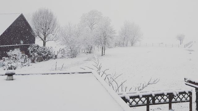 Smalle sneeuwstrook leidt tot grote verschillen in sneeuwval