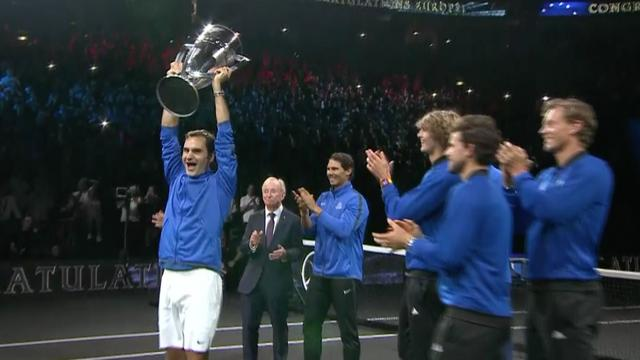 Nadal en Federer veroveren met Europese tennissers Laver Cup