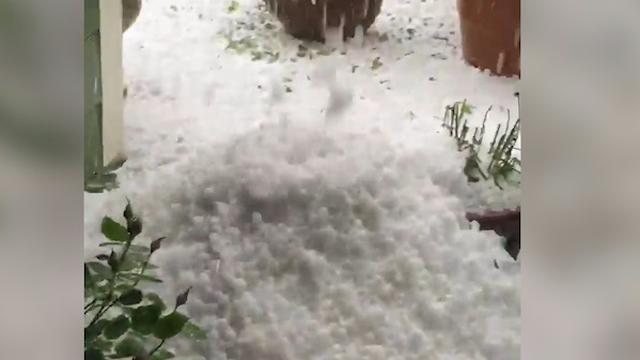 Flinke hagelstorm zorgt voor overlast in Amerikaanse stad