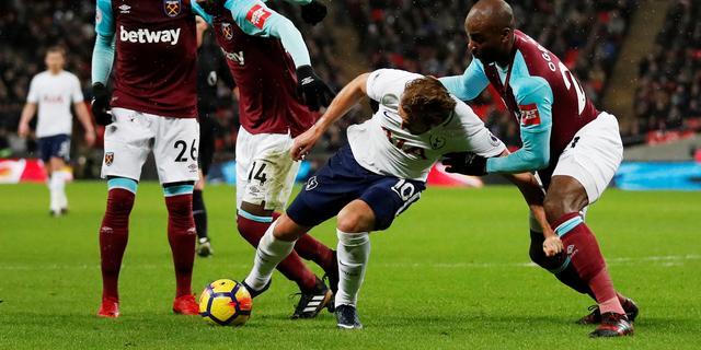 Spurs pakken ondanks overwicht slechts punt tegen West Ham