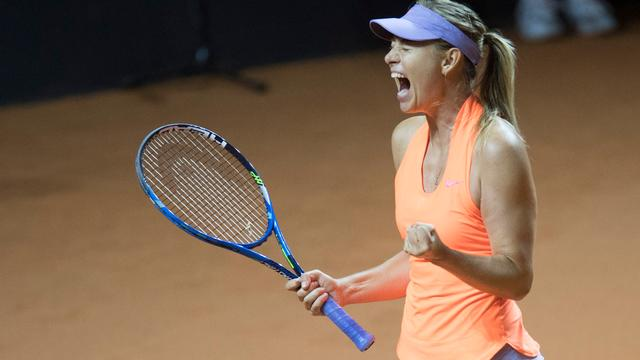 Sharapova emotioneel door succesvolle rentree na dopingschorsing